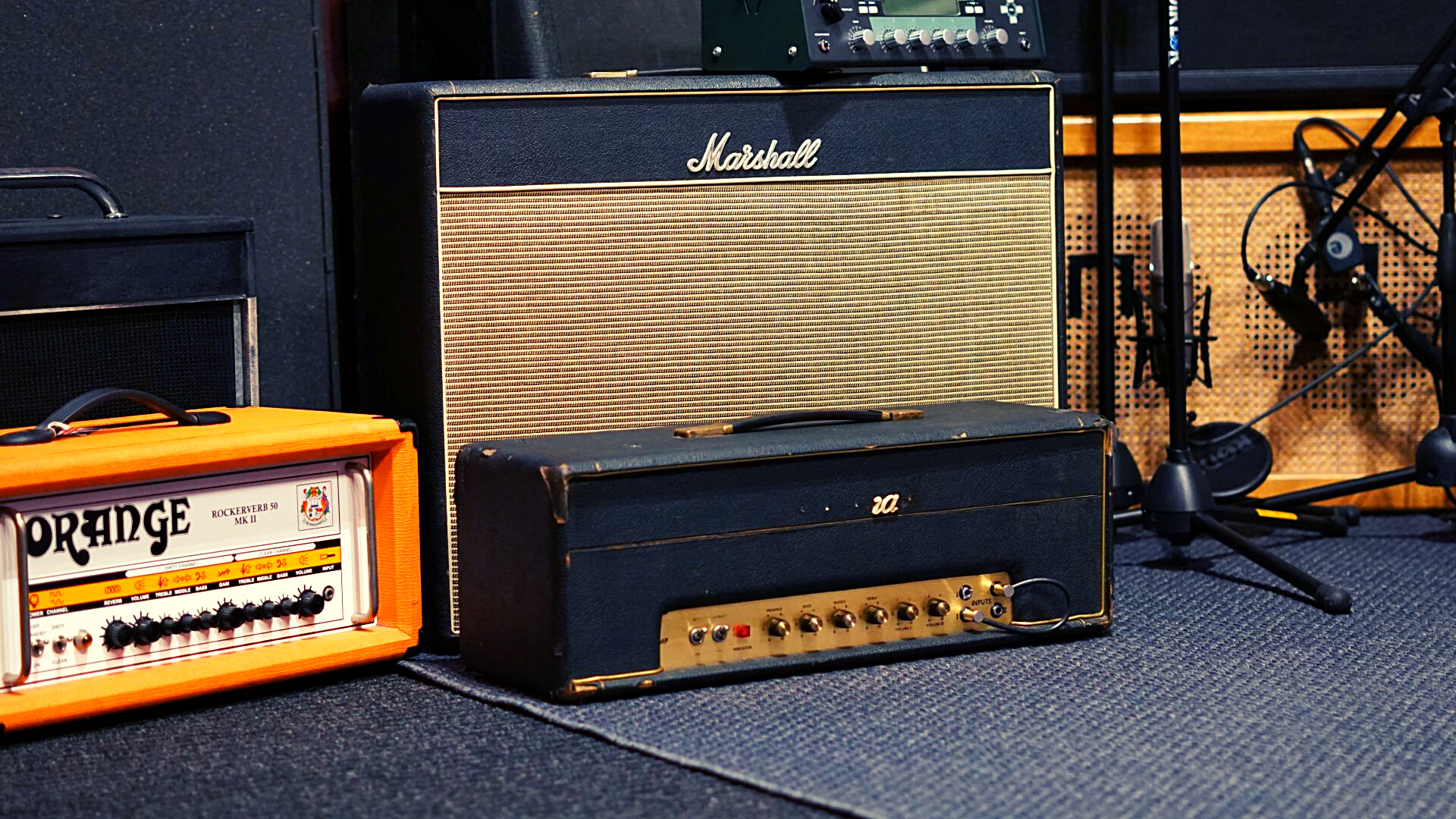 Slide Marshall & Orange Amps